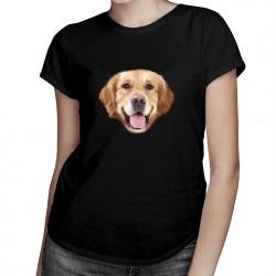 Golden retriever - T-shirt pentru femei cu imprimeu