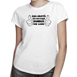 Mai bună bunică din lume - tricou pentru femei cu imprimeu
