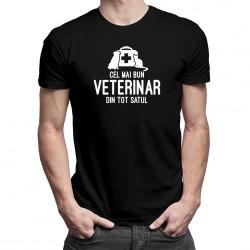 Cel mai bun veterinar din tot satul - T-shirt pentru bărbați