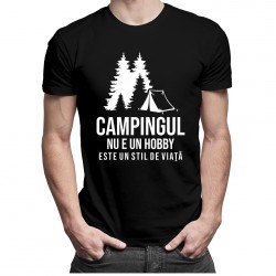 Campingul nu e un hobby - este un stil de viaţă - T-shirt pentru bărbați