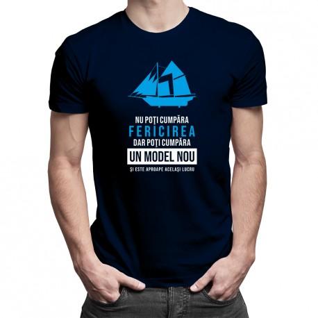 Nu poţi cumpăra fericirea, dar poţi cumpăra un model nou - T-shirt pentru bărbați cu imprimeu