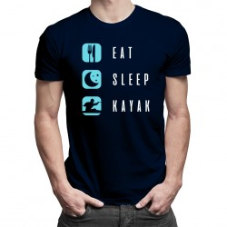 Eat sleep kayak - T-shirt pentru bărbați cu imprimeu