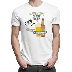 Alimentare cu bere în curs, vă rugăm să nu deranjaţi - tricou bărbătesc cu imprimeu