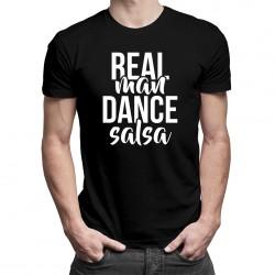 Real man dance salsa - T-shirt pentru bărbați cu imprimeu