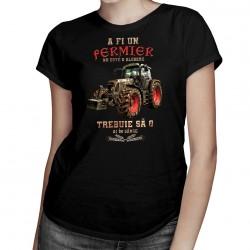 A fi un fermier - o am în sânge - T-shirt pentru femei cu imprimeu