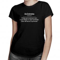 Asistenta - tricou pentru femei cu imprimeu