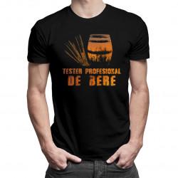 Tester profesional de bere - tricou bărbătesc cu imprimeu