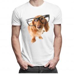 Catelus cu ochelari - T-shirt pentru bărbați