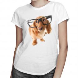 Catelus cu ochelari - T-shirt pentru femei