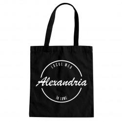 Alexandria - locul meu în lume - Geantă cu imprimeu