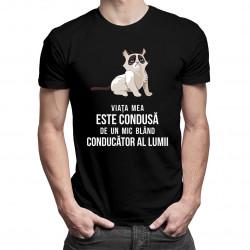 Viața mea este condusă de un mic conducător blând al lumii - T-shirt pentru bărbați