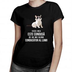 Viața mea este condusă de un mic conducător blând al lumii - T-shirt pentru femei