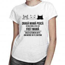 Dragă mamă pisică, vă mulțumim că ne-ați fost mamă - T-shirt pentru femei