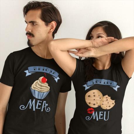 Set pentru un cuplu - Brioșa mea Tortul meu - t-shirt