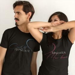 Set pentru un cuplu - Cealaltă jumătate Jumătatea mai bună - t-shirt
