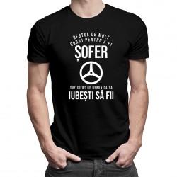 Destul de mult curaj pentru a fi șofer - T-shirt pentru bărbați cu imprimeu