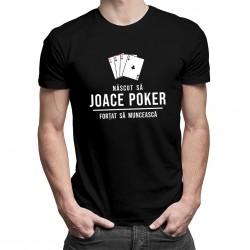Născut să joace poker - T-shirt pentru bărbați cu imprimeu