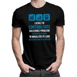 Lucrez în contabilitate - T-shirt pentru bărbați