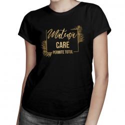 Mătușă care permite totul - tricou pentru femei cu imprimeu