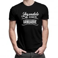 Legendele se nasc în ianuarie - tricou bărbătesc cu imprimeu