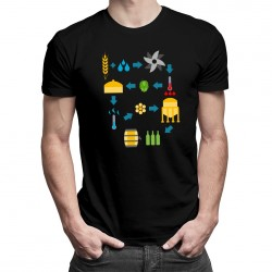 Procesul de preparare a berii - T-shirt pentru bărbați și femei