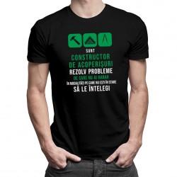Constructor de acoperișuri - rezolv probleme - T-shirt pentru bărbați