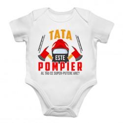 Tata este pompier - body pentru copii