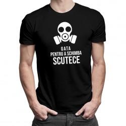 Gata pentru a schimba scutece - tricou bărbătesc cu imprimeu
