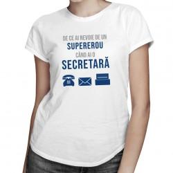 De ce ai nevoie de un supererou - secretară - T-shirt pentru femei