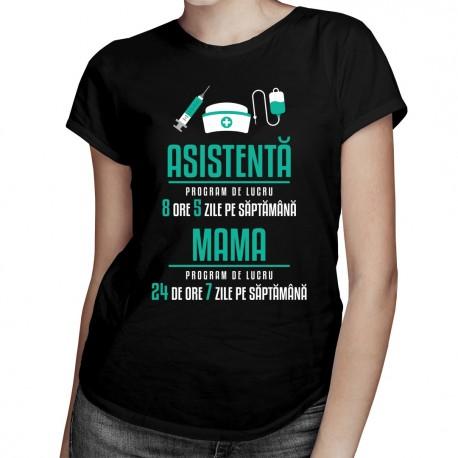 Asistentă - program de lucru - T-shirt pentru femei