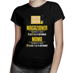 Magazioner - program de lucru - T-shirt pentru femei