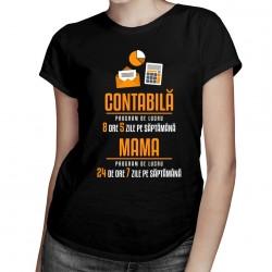 Contabilă - program de lucru - T-shirt pentru femei