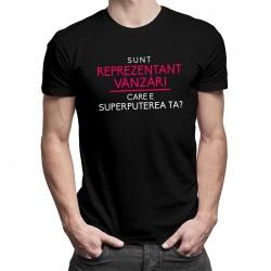 Sunt reprezentant vânzări, care e superputerea ta? - T-shirt pentru bărbați