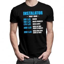 Instalator - tarif orar - T-shirt pentru bărbați