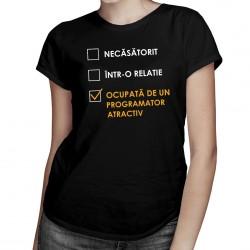 Ocupată de un programator atractiv - T-shirt pentru bărbați