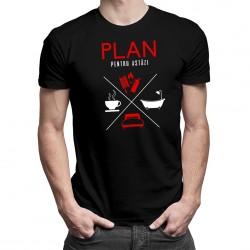 Plan pentru astăzi - pompier -  T-shirt pentru bărbați