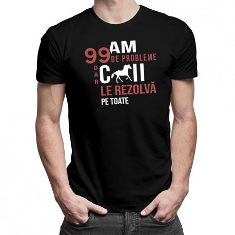 Am 99 de probleme, dar caii le rezolvă pe toate - T-shirt pentru bărbați și femei