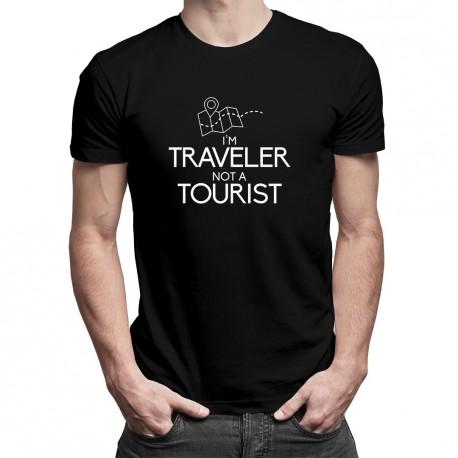 I'm traveler, not a tourist - T-shirt pentru bărbați