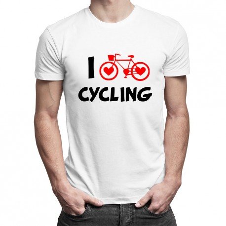 I love cycling - T-shirt pentru bărbați