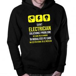 Sunt electrician - soluționez probleme - bluză cu glugă pentru bărbați