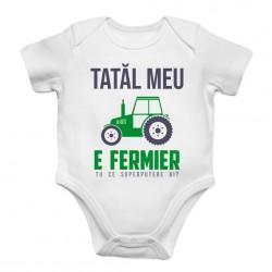 Tatăl meu e fermier - tu ce superputere ai? - body pentru copii