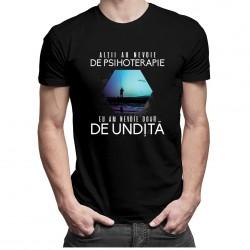 Alţii au nevoie de psihoterapie, eu am nevoie doar de undiță - T-shirt pentru bărbați și femei