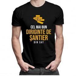 Cel mai bun diriginte de şantier din sat - T-shirt pentru bărbați