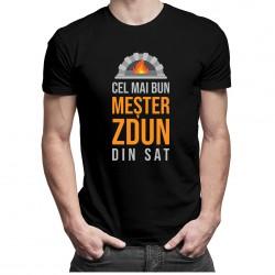 Cel mai bun meșter sobar din sat - T-shirt pentru bărbați