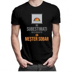 Nu subestimați niciodată un meșter sobar - T-shirt pentru bărbați