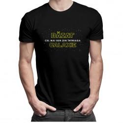 Băiat - cel mai bun din întreaga galaxie - t-shirt pentru bărbați
