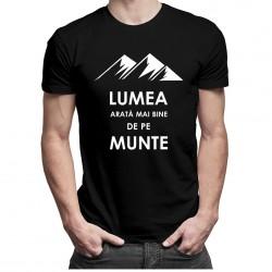 Lumea arată mai bine de pe munte - T-shirt pentru bărbați