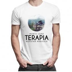 Munții sunt terapia noastră maritală - T-shirt pentru bărbați