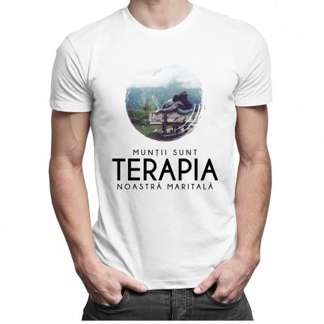Munții sunt terapia noastră maritală - T-shirt pentru bărbați și femei