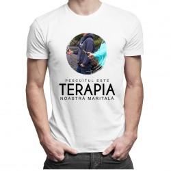 Pescuitul este terapia noastră maritală - T-shirt pentru bărbați și femei
